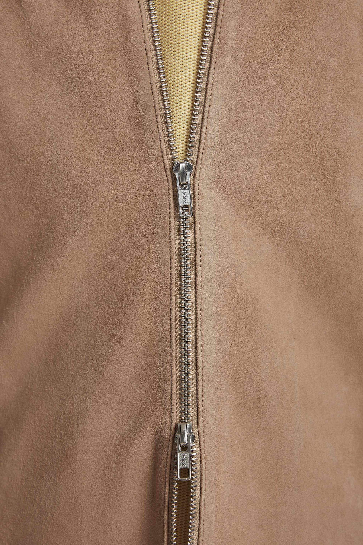 Zip Suede Shirt 8239